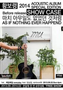 Acoustic Live @ Mu, 092213, Sun,. 4pm